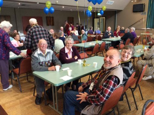 Alloura Waters residents at morning tea