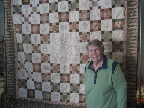 Lucky quilt raffle winner, Anne from Kincumber.