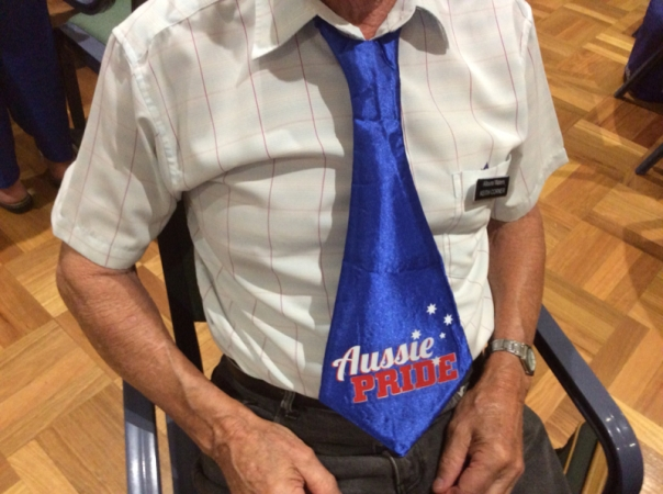 What a great tie..