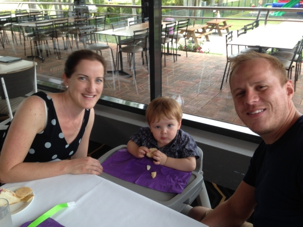 Grand Daughter Kate, Grandson in Law Andrew & great Grandson Henry.