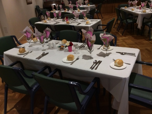 The Social Sub-Committee members did a great job setting up the tables..