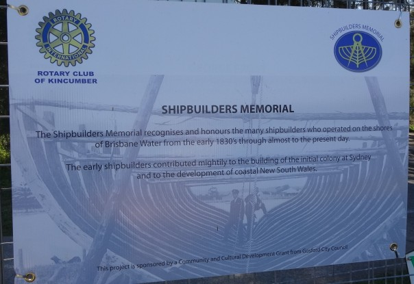 Sign displayed during the construction