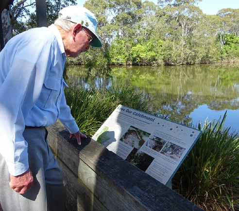 Reading about our water catchment area