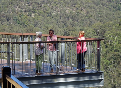 A chat on the high platform