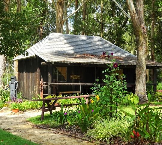 A beautiful setting for the slab hut school