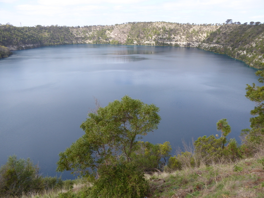 The Blue Lake at Mount Gambier