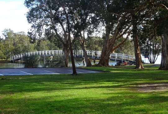 Wooden footbridge in Mackenzie Reserve