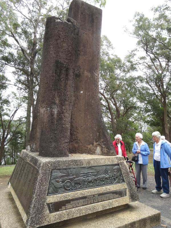 Pioneer Park Memorial with bronze plaques