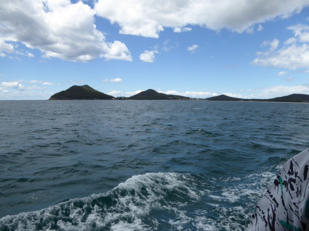 Leaving Port Stephens