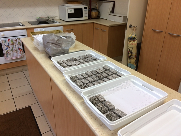 Lamingtons at the ready