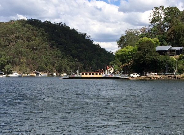 The Berowra Car Ferry.